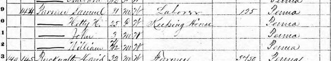 1870 Census Samuel and Hetty cropped