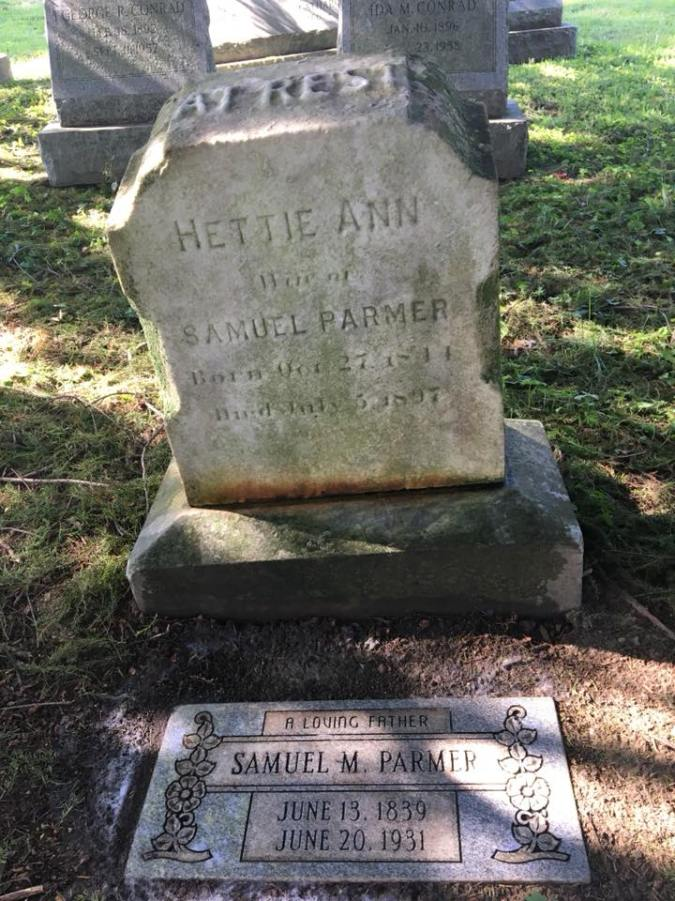 Samuel and Hettie Parmer headstones