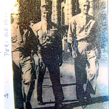 Robert in 1943 with military buddies, Peri and Nolan, in Shreseport, LA.